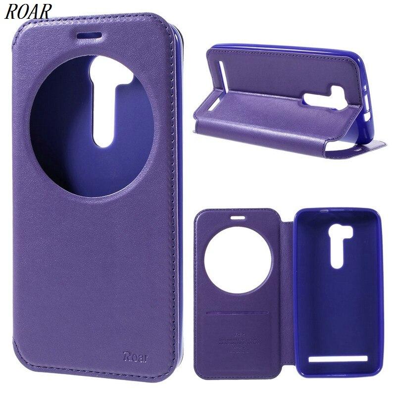 For Asus Zenfone Go Case Original ROAR KOREA Noble Leather Stand View Window Phone Cover Case for Asus ZenFone Go/Go TV ZB551KL