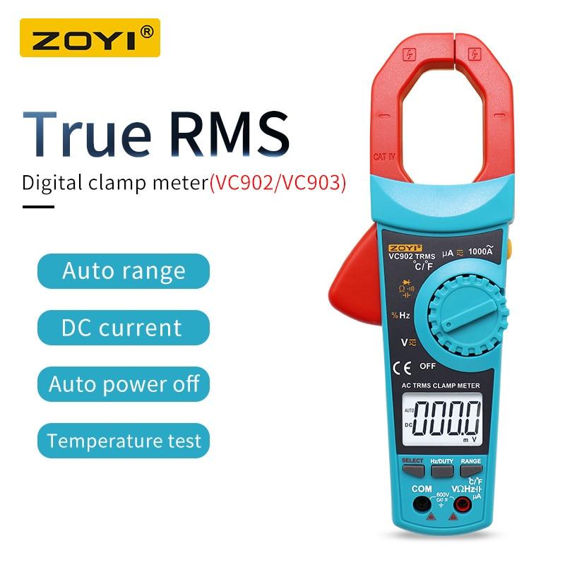 Multímetro de Alta Verdadeiro Digital Clamp Meter Acdc Tensão Atual Automático Alcance Resistência Capacitância Precisão Vc903 Vc902 Rms
