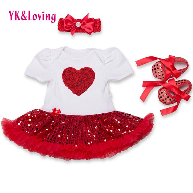 Summer girl dress tutu vestidos de lentejuelas de manga corta recién nacido ropa de la muchacha fijaron encantadora hermosa princesa ropa para niños z433
