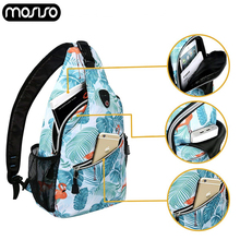 MOSISO Women s Crossbody Bags Waterproof Chest Bag Casual Messenger Shoulder Bust Gym Outdoor Hiking Back Pack Travel