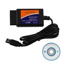 Best Price V2.1 ELM327 USB OBD2 Code Scanner Elm 327 V1.5 Support All OBDII Protocol