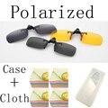 Clips En Gafas de Sol polarizadas 4 Colores Polaroid gafas de Visión Día Noche de Conducción Gafas de La Miopía Gafas de sol Gafas Anti-uva-UVB