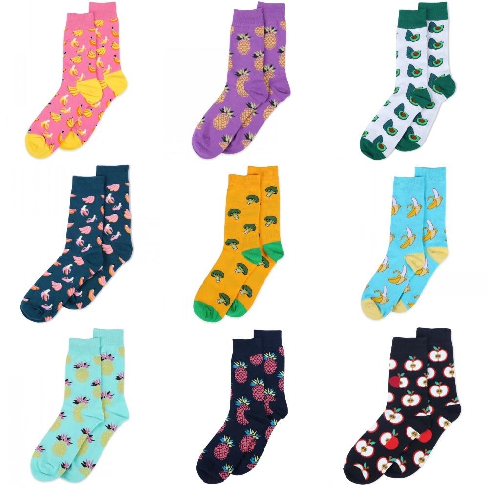 cute   socks   for women men apple banana pineapple watermelon Pepper pattern lovely art   socks   girl boys harajuku funny   socks