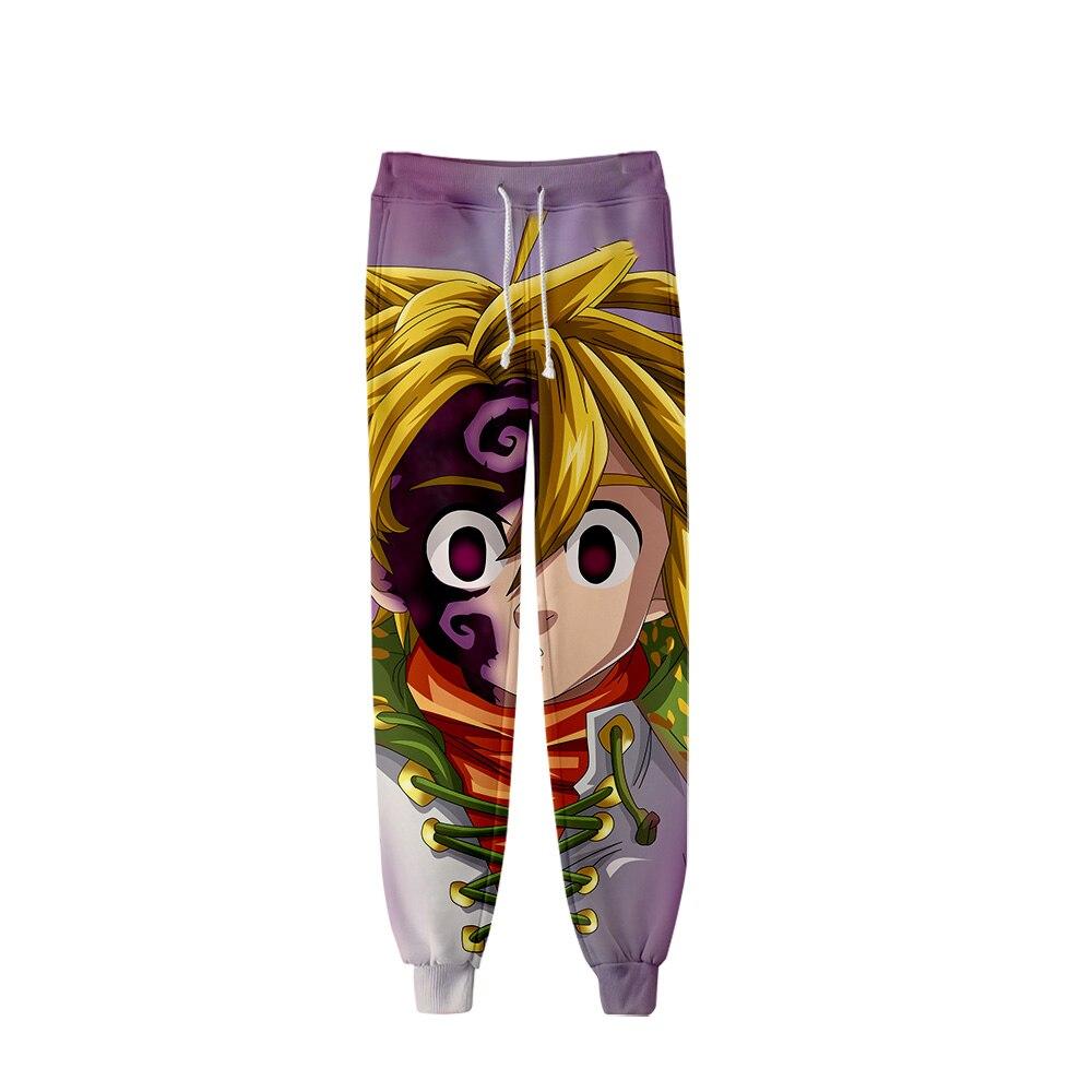 Frdun New Meliodas Anime Cool Harajuku 3D Jogger Pants Light/breathable Casual Harajuku High Quality Trousers Fashion Pant