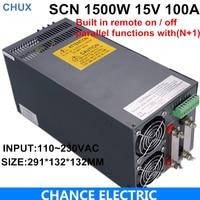 Ce Cetified 15 В 100A коммутации Питание 1500 Вт для ЧПУ видеонаблюдения светодиодная SCN 1500 15