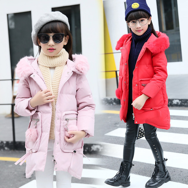 ae24e3c3849e 2016 New Kids Clothes Girls Jacket and Coats Big Pocket Winter ...
