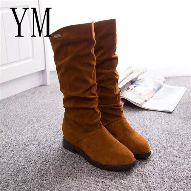 Women's Spring Matte Flock Boots