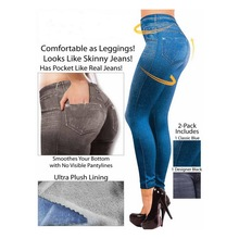 Denim-Look with Pocket Leggings