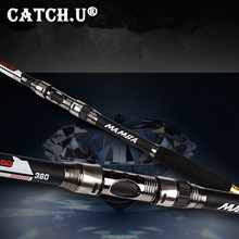 2.1M-3.6M Black Carbon Rock Hand Spinning Telescopic Fishing Rod