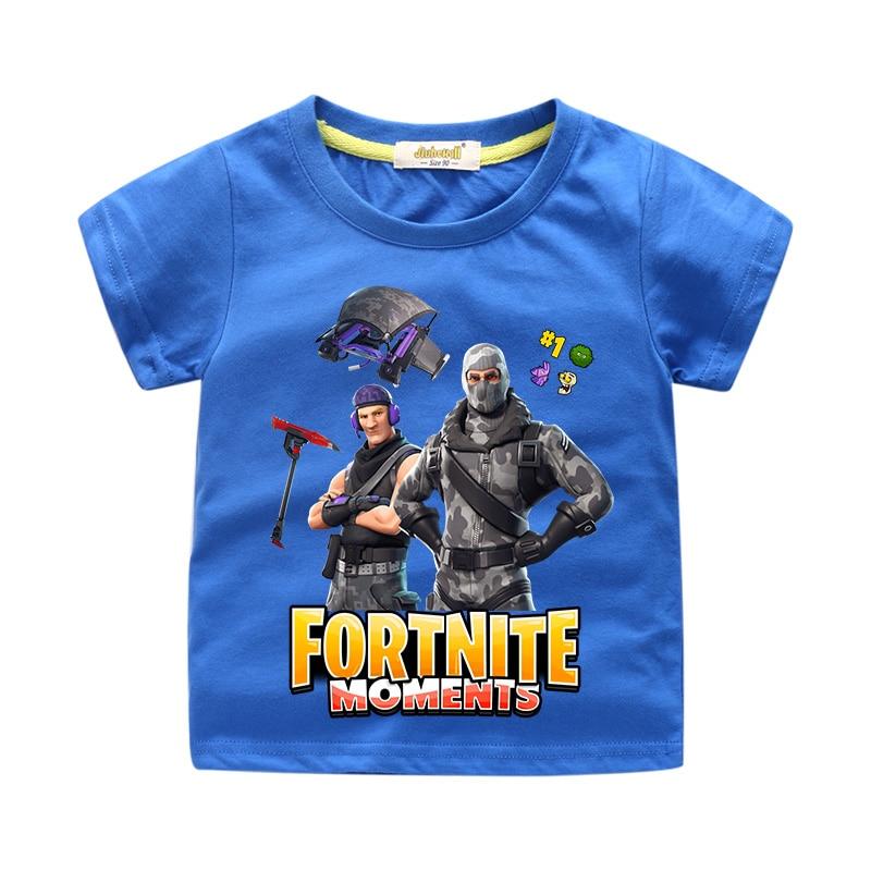 Boy Summer 3D Funny Fortnite Print T-shirt Clothing Girl Tshirt For Children Short Sleeve Tee Tops Costume Kids T Shirt WJ009