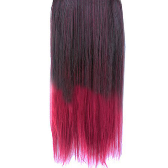 Straight Colorful Ombre Style Synthetic Hair