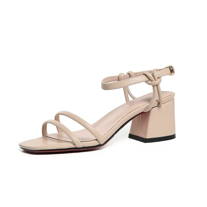 Hochzeit Gnade Apricot Sommer Neue Büro Schuhe Frau Ferse black Mode Gladiator Sandalen Frauen Kleid Vankaring Quadrat Damen pq1gwBO