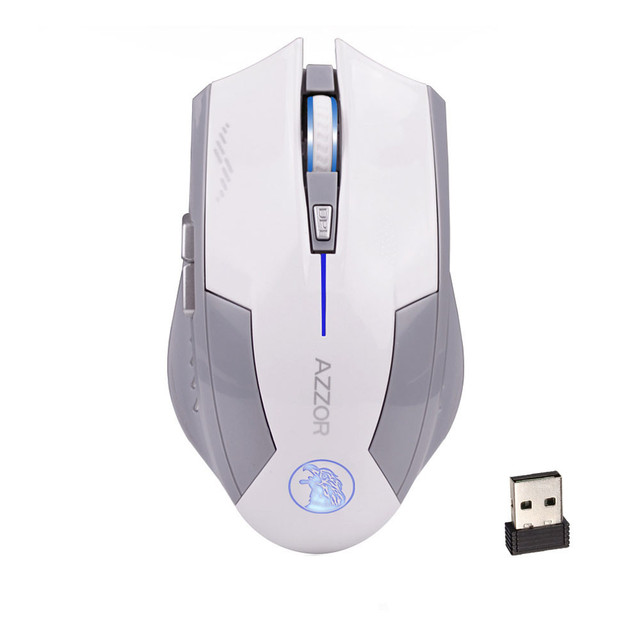 Suppion 2.4GHz Wireless 6D Rechargeable 2400DPI X3 6 Buttons Optical Gaming Mouse