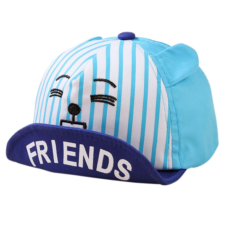 Boys' Baby Clothing Charitable Summer Children Sun Hats Baby Sun Hat Babies Cap Kids Hat Cute Printed Expression Animal Friends Curing Cough And Facilitating Expectoration And Relieving Hoarseness