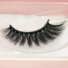 SHIDISHANGPIN 1 Pair Natural Long Mink Eyelashes 1 box 3D False Eyelashes