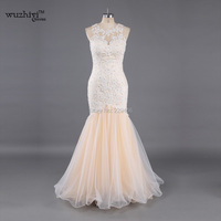 Sheer tulle Mermaid Wedding Dresses 2017 o neck Ruffles Mermaid Vestido De Novia Arabic Dubai South Africa Bridal Gowns dress
