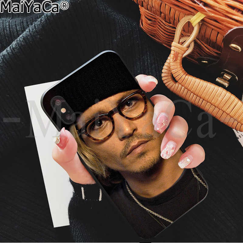 MaiYaCa Captain Jack Johnny Depp Coque Shell Phone Case for iPhone 5 5Sx 6 7 7plus 8 8Plus X XS MAX XR