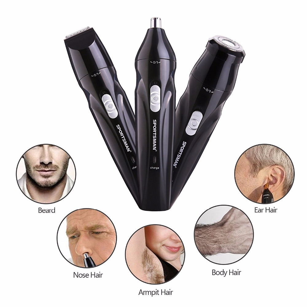3 in 1 Electric Shaver for men Nose USB Rechargeable Hair Trimmer / Ear Hair Trimmer / Beard Trimmer / Sideburn Trimmer