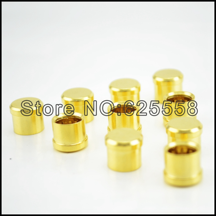 16Pcs Gold Plated RCA Cap Plug Short-Circuit Socket Phono Connector RCA Shielding jack socket protect cover caps gold plated socket pixhawk px4 247