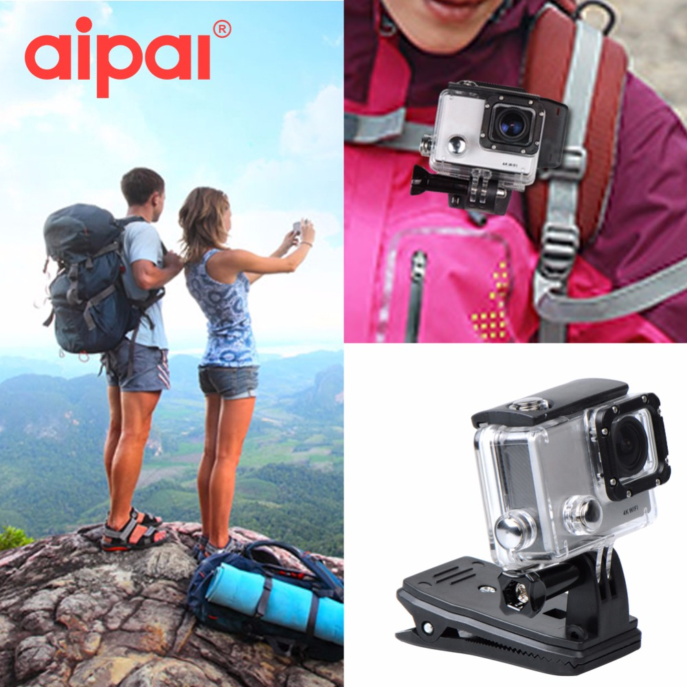 Aipal Accessories 360 Degree Rotation Backpack Hat Quick Clip Mount For GoPro Hero 3 4 SJCAM