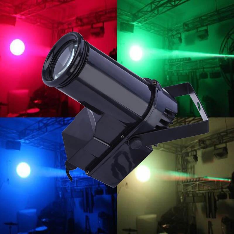 Colorful Beam Spotlight 10W RGBW LED Stage Light Pinspot Light Professional DMX 6CH DISCO KTV DJ Stage Effect Lighting