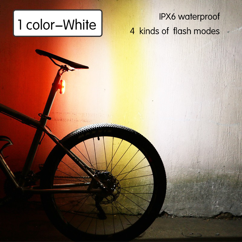 USB Rechargeable Waterproof Mountain Road Safe Bicycle Rear Tail Light Blue moto