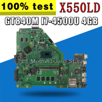 GT840M I7-4500U 4GB X550LD For Asus X550LD X550LC A550L Y581L W518L X550LN 노트북 마더 보드 원래 마더 보드