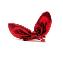 2018 Korean New Hair Clip For Children PU Shoes Rabbit Ears Children Hair pin Top Clip(China)