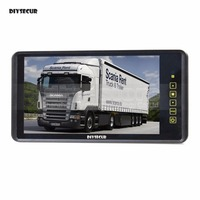 DIYSECUR 9 Inch TFT LCD Display Rear View Car Mirror Monitor With 2 Video Input for Parkign System Car CCD Camera Cam / DVD