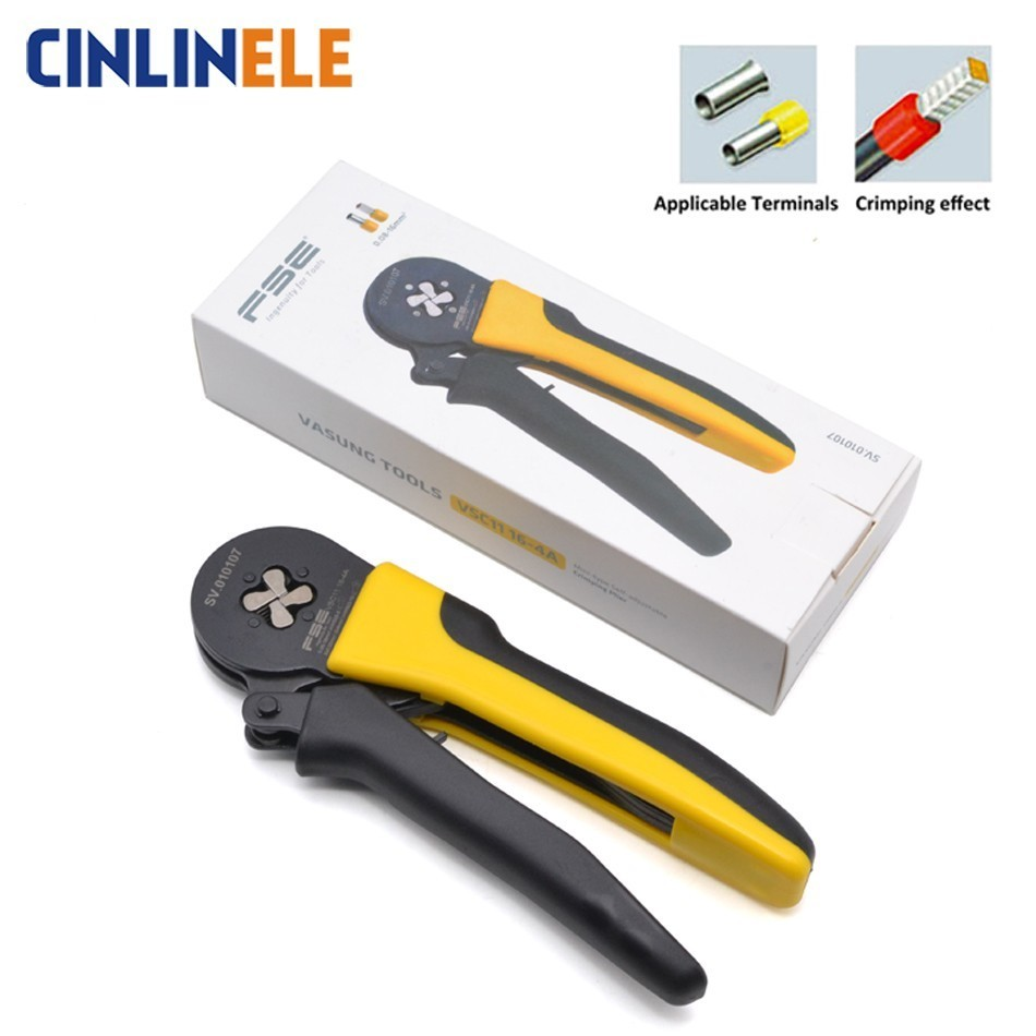 Mini 0.08-16mm <font><b>28</b></font>-5AWG High Quality Precision Wire Connector Crimp Pliers VE <font><b>Tube</b></font> Bootlace Terminal Tool VSC11 16-4 6-4 6-6 FSE image