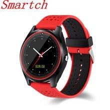 Получить скидку Smartch V9 Bluetooth Smart часы с Камера GPS Поддержка sim-карты Фитнес трекер Браслет Беспроводные устройства SmartBand наручные часы