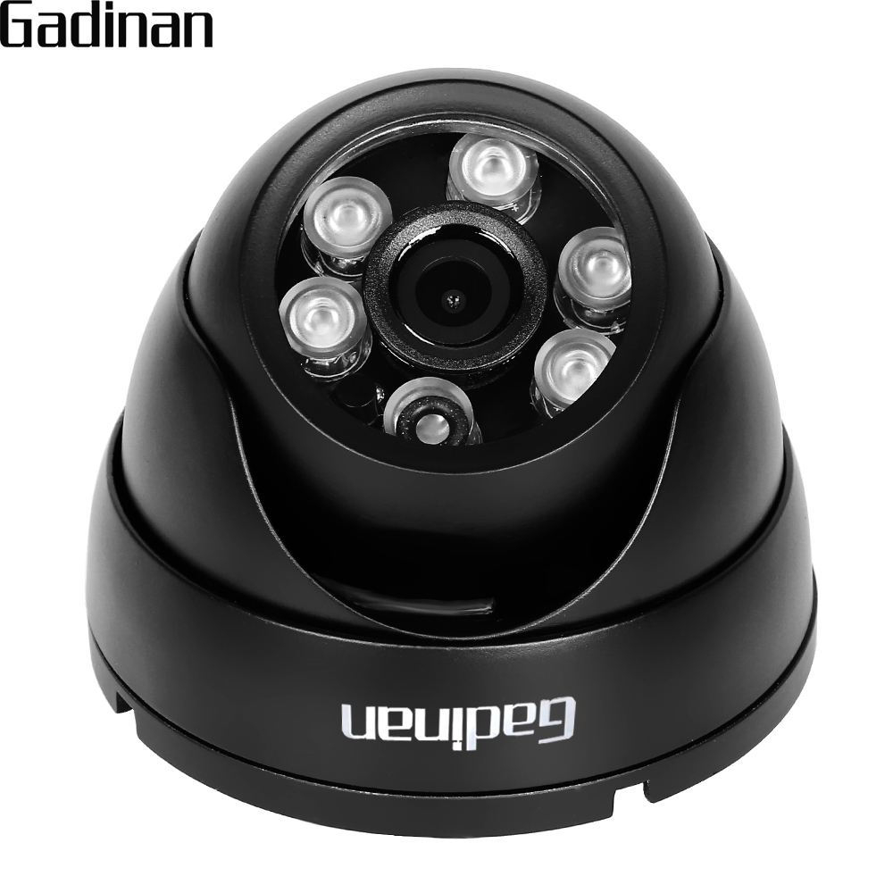 GADINAN 1080P Full HD VandalProof Anti-Vandal H.265 2.0MP Indoor Outdoor P2P Onvif Metal CCTV Mini Dome IP Camera Motion Detect techage h 265 4mp 2592 1520 vandalproof anti vandal poe ip camera indoor outdoor metal case ip66 onvif p2p dome cctv hd camera