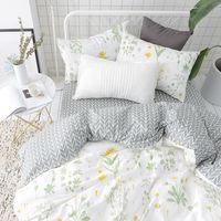 Flower Leaf Duvet Cover Set Twin Queen Size Bedding Set 100% Egyptian Cotton Duvet Cover Bed Sheets Pillow Case Pink Bed Linens