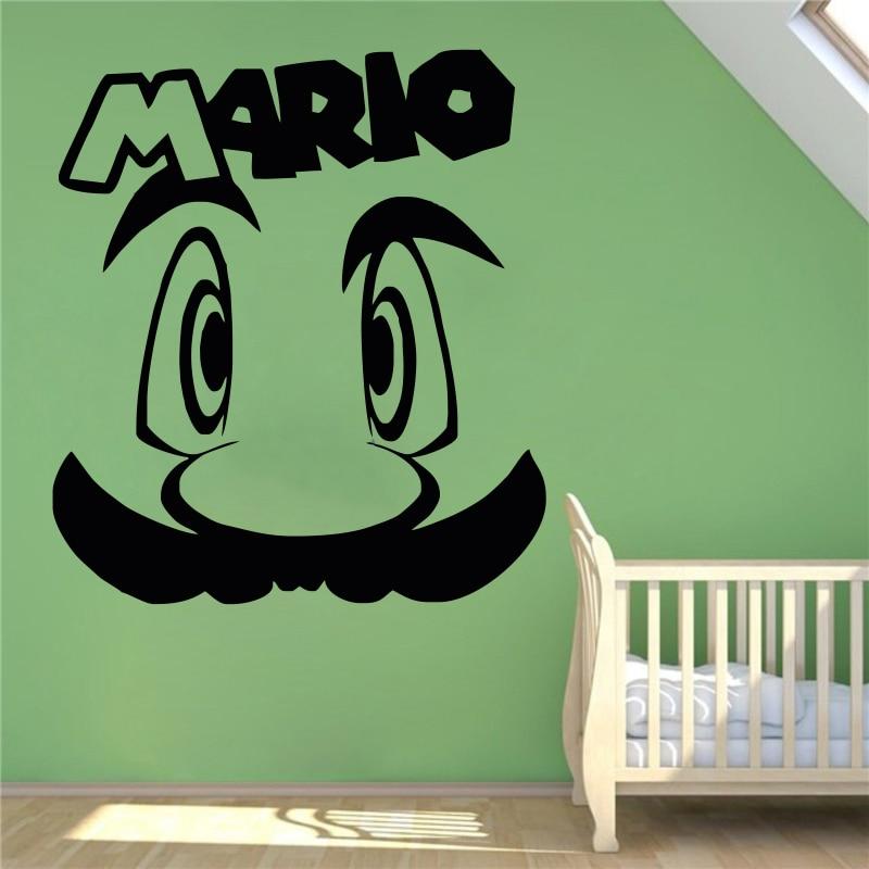 Wall Decal Super Mario Video Game Hero Vinyl Sticker Retro Games Home  Interior Removable Wall Murals