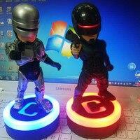 2PCS RoboCop Q Version With LED Light South Kingstown, RI Alex Murphy Joel Kinnaman Gary Oldman PVC Action Figure S558