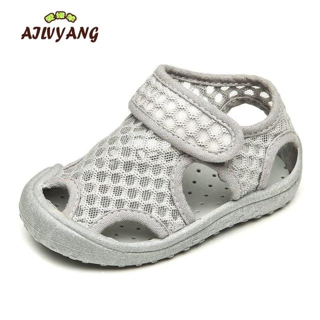 AILVYANG מותג תינוק נערי ילדה קיץ סנדלי רשת נעלי ילדים לנשימה חוף נעל פעוטות מקרית דירות אנטי להחליק נעליים a09