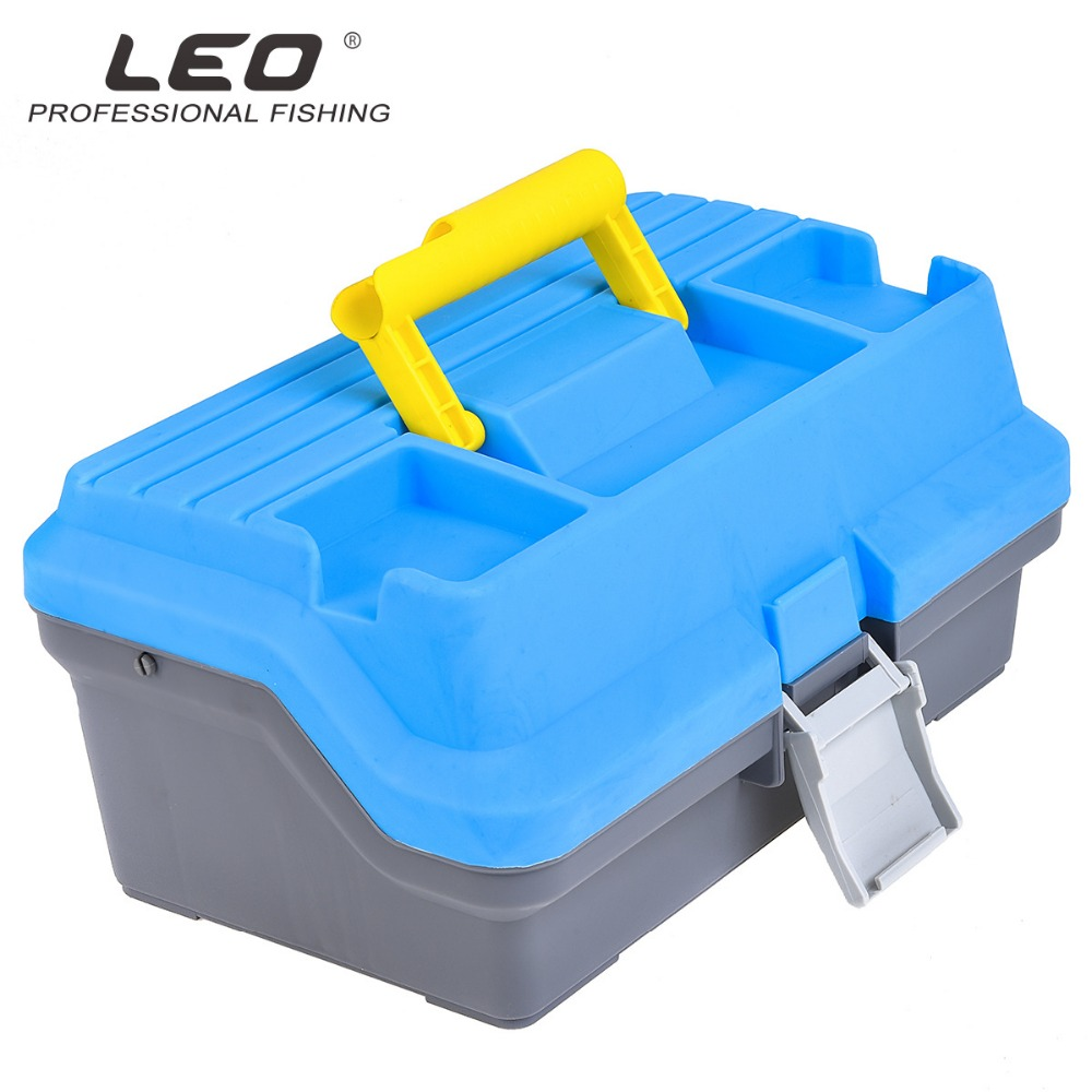 LEO multi-purpose fishing tackle box fishing kit blue fishing tackle accessories fishing bait box trulinoya multi purpose fishing bag 24 15 cm fish lock lure box accessories box style fishing bag set fishing tackle best