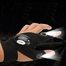 Night Fishing Gloves with LED Light Flashlight