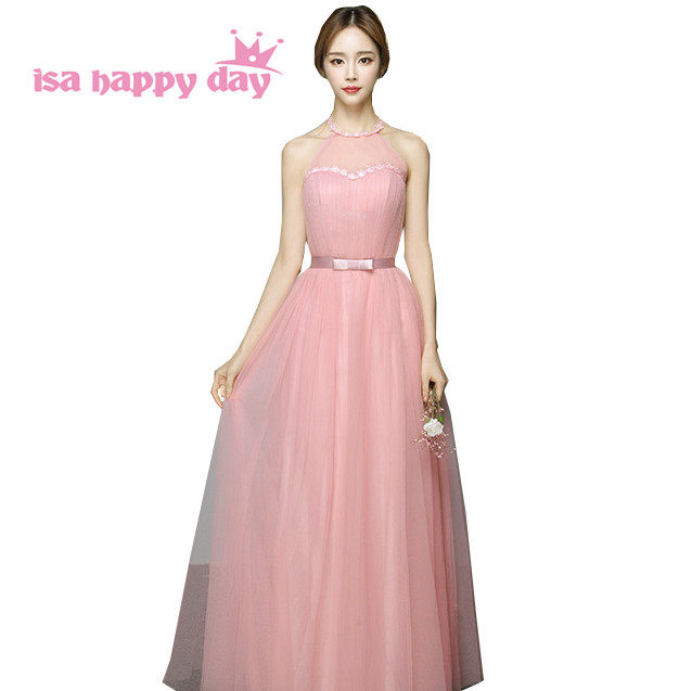 Online Shop modest princess elegant girls halter neck ball gown ...