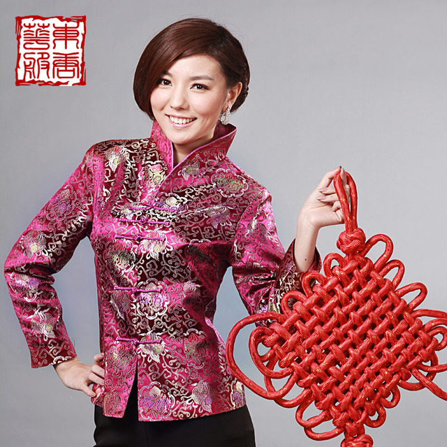 Magnificently 2013  women's chinese style national trend tang suit top rich flowers