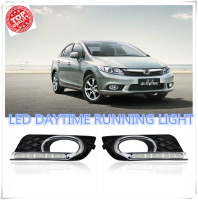 2PCs Set LED DRL Car Daylight Daytime Running Lights For Honda Civic 2012 2013 2014 With