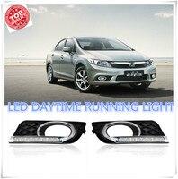 2PCs Set LED DRL Car Daylight Daytime Running Lights For Honda Civic 2012 2013 2014 With