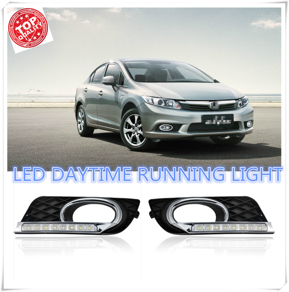 2pcs set led drl car daylight daytime running lights for