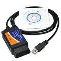Elm327 usb obd ii ferramenta De Diagnóstico Adaptador nova versão V1.5 obd2 ELM327 USB com CD de Software elm327 pic18f25k80