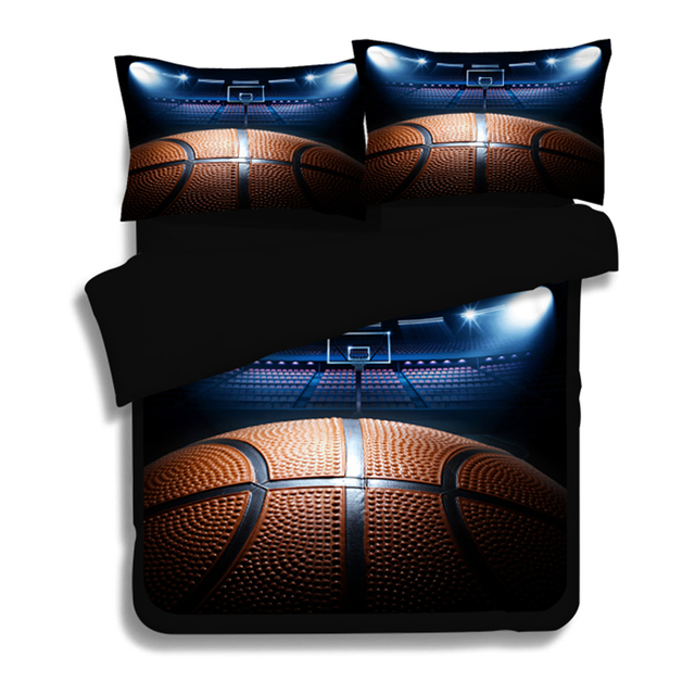 3d Print Football Volleyball And Basketball Bedding Set Twin Queen King  Size Duvet Cover Flat Bed