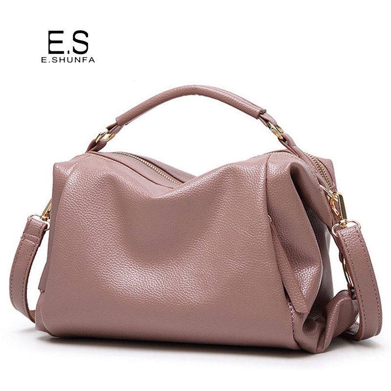 Large Capacity Shoulder Bag Woman 2018 Causal PU Leather Handbag Tote Bag Soft Zipper High Quality Fashion Shoulder Bags Women multifunctional pu leather zipper decor shoulder bag