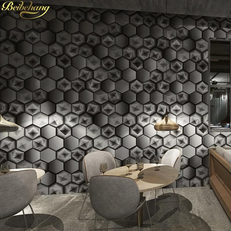 Beibehang abstrait géométrique graphique motif KTV papier peint bar boîte thème Internet café décoration fond 3D papier peint rouleau