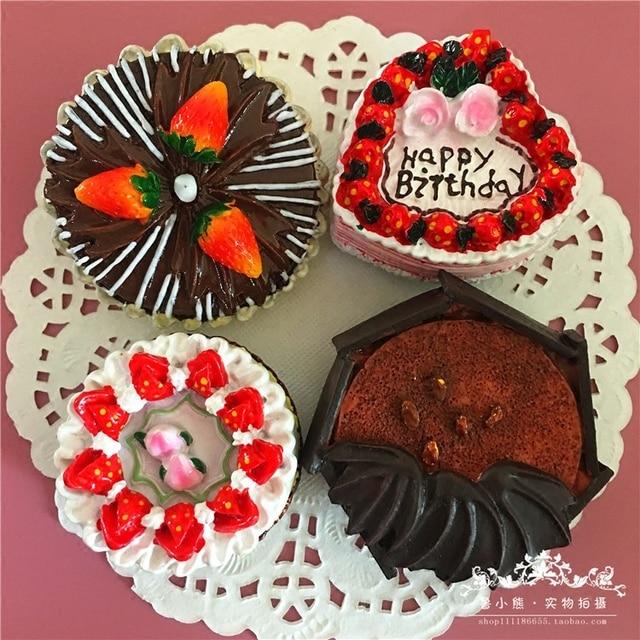 Birthday Cake Fruit Strawberry Chocolate Magnetic Refrigerator