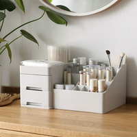 2018 NEW PP Three layer Plastic Storage Box Makeup Drawers Organizer Box Jewelry Container Make up Case Cosmetic Office Boxes