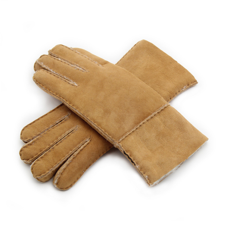 Back To Search Resultsapparel Accessories Inventive Fashionable Double Thicken Warm Cashmere Winter Women Driving Gloves Elegant Suede Fabric Plush Full Finger Mittens